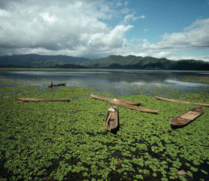A lake on the island of Sumbawa INDONESIA